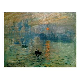 Lever de soleil de l'impression de Monet (soleil Cartes Postales