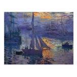 Lever de soleil de Monet à l'art de canotage de pe Cartes Postales