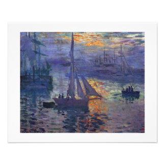 Lever de soleil de Monet à l'art de canotage de pe Prospectus