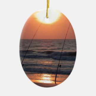 Lever de soleil de Myrtle Beach Ornement Ovale En Céramique