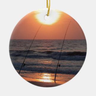 Lever de soleil de Myrtle Beach Ornement Rond En Céramique