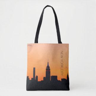 Lever de soleil de New York City Sac