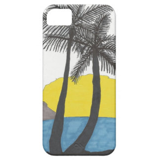 Lever de soleil de palmier coque iPhone 5