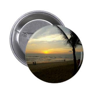 Lever de soleil de plage avec le palmier pin's