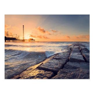 Lever de soleil de plage de Galveston Carte Postale