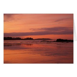 Lever de soleil de plage de Higgins Cartes De Vœux