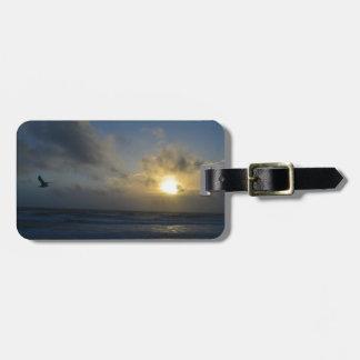 Lever de soleil de plage d'OBX Étiquettes Bagages