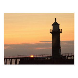 Lever de soleil de Whitby Carte Postale