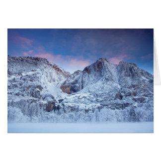Lever de soleil de Yosemite Falls Carte De Vœux