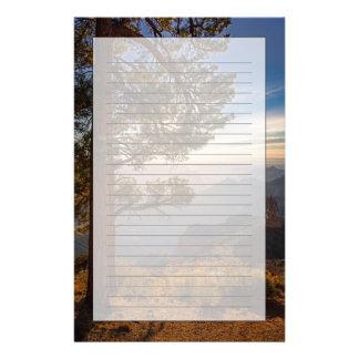 Lever de soleil du nord de jante papier à lettre customisé