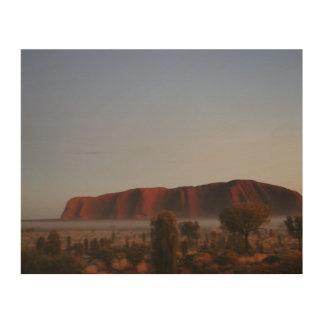 Lever de soleil d'Uluru Impression Sur Bois