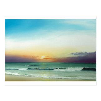 Lever de soleil externe de banques carte postale