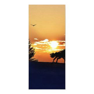 Lever de soleil carton d'invitation  10,16 cm x 23,49 cm