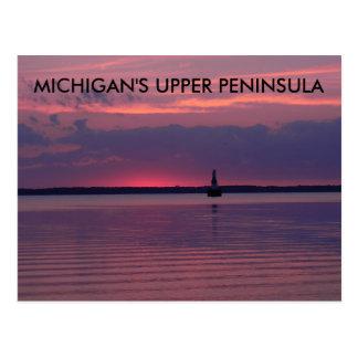 Lever de soleil supérieur du Michigan Carte Postale