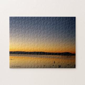 Lever de soleil sur le lac puzzle