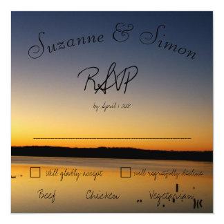 Lever de soleil sur le lac RSVP Carton D'invitation 13,33 Cm