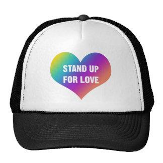 Levez-vous pour l'amour (le coeur d'arc-en-ciel) casquette