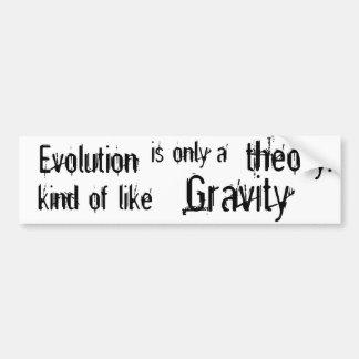 L'évolution est seulement une théorie un peu comme autocollant de voiture