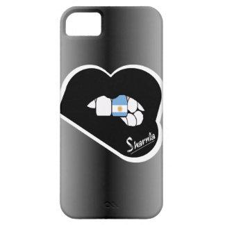 Lèvre de noir de cas de téléphone portable de coque iPhone 5 Case-Mate