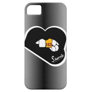 Lèvre de noir de cas de téléphone portable du Sri Coque Barely There iPhone 5
