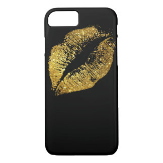 Lèvres #2 de scintillement d'or coque iPhone 7