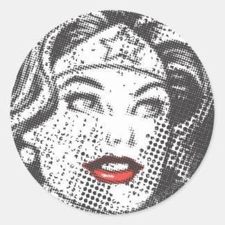 Lèvres de rouge de femme de merveille autocollants