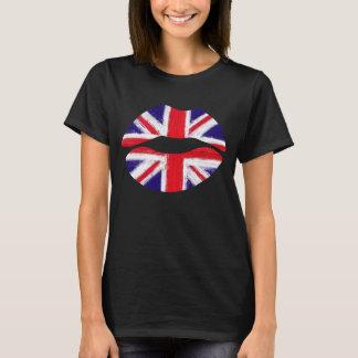 lèvres drôles, lèvres britanniques, cric des t-shirt