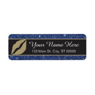 Lèvres - étiquette de adresse de retour - coutume