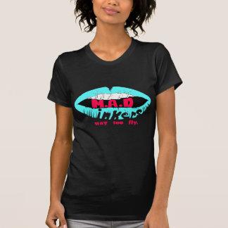 Lèvres folles bleues, t-shirt