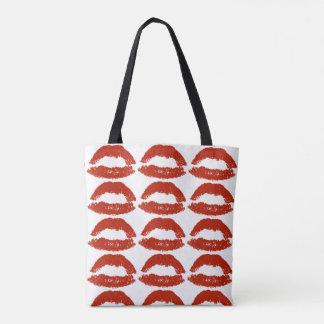 Lèvres rouges d'art de bruit sac