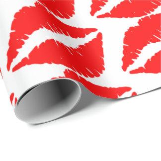 Lèvres rouges papier cadeau