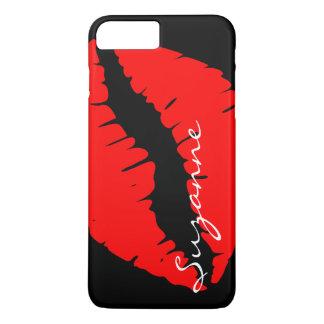 Lèvres rouges personnalisées coque iPhone 7 plus