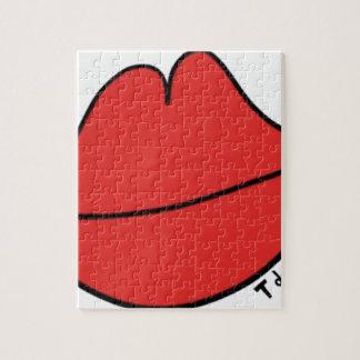 Lèvres rouges puzzles