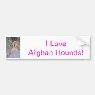 Lévrier afghan autocollant de voiture