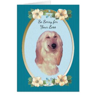 Lévrier afghan, floral turquoise - sympathie carte de vœux