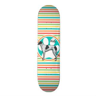 Lévrier Rayures lumineuses d arc-en-ciel Plateaux De Skateboards Customisés