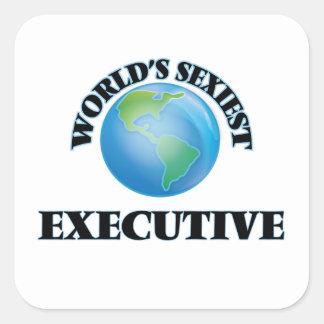 L'exécutif le plus sexy du monde sticker carré