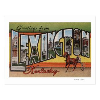 Lexington, Kentucky - grandes scènes de lettre Carte Postale