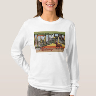 Lexington, Kentucky - grandes scènes de lettre T-shirt
