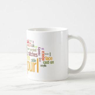 Lexique de tricot de maille de Knit pour des Mug
