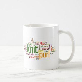 Lexique de tricot - mots pour des tricoteuses !  mug