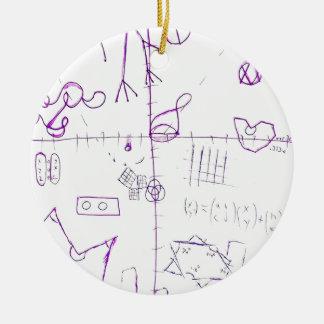 Lexographical Symbolmantic Grimoire par la Ornement Rond En Céramique