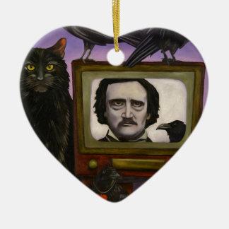 L'exposition de Poe Ornement Cœur En Céramique