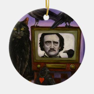 L'exposition de Poe Ornement Rond En Céramique