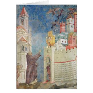 L'expulsion des diables d'Arezzo, 1297-99 Carte De Vœux