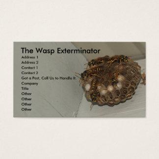 L'exterminateur de guêpe cartes de visite