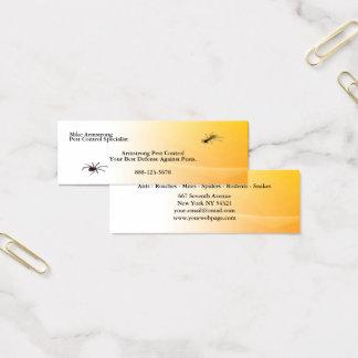 L'exterminateur de lutte contre les parasites mini carte de visite