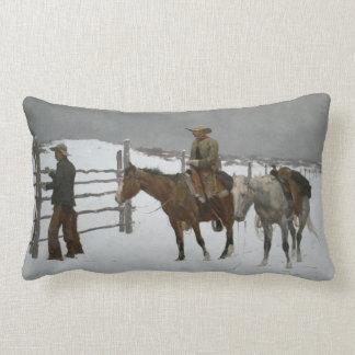 """L'extrémité de Remington """"du cowboy. """" Coussin"""