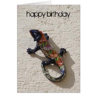 lézard d'anniversaire carte de vœux