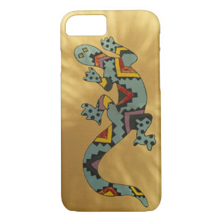 Lézard peint de gecko sur le mur, Tucson, Arizona, Coque iPhone 7